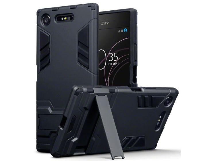 Terrapin Ανθεκτική Θήκη με stand (131-005-046) Μαύρο (Sony Xperia XZ1)