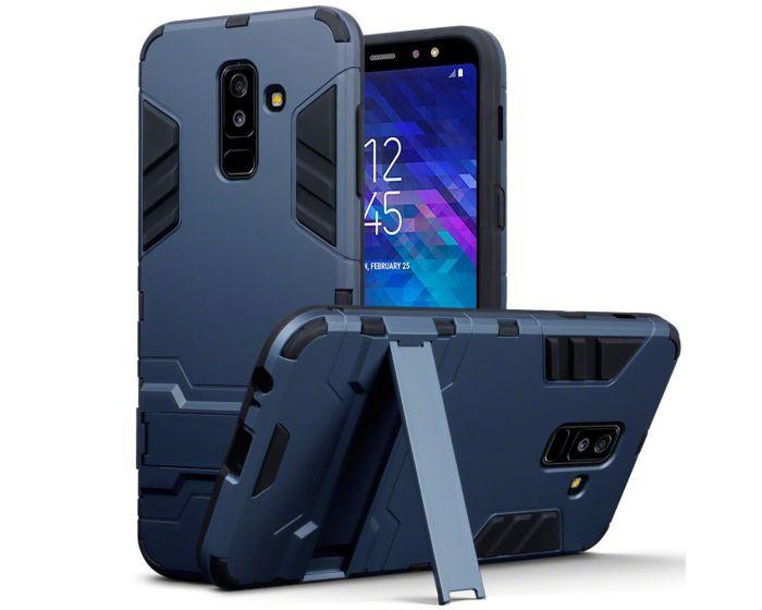 Terrapin Ανθεκτική Θήκη με stand (131-002-081) Blue (Samsung Galaxy A6 Plus 2018)