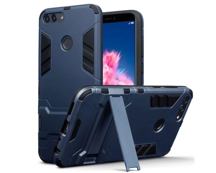 Terrapin Ανθεκτική Θήκη με stand (131-083-058) Blue (Huawei P Smart)