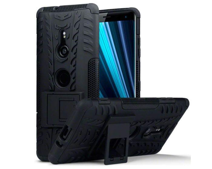 Terrapin Ανθεκτική Θήκη με stand (131-005-072) Μαύρη (Sony Xperia XZ3)
