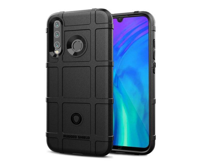 Anti Shock Rugged Armor Square Grid Tough Case Black (Huawei Honor 20 Lite)