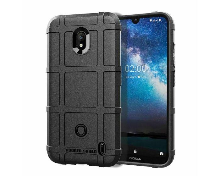 Anti Shock Rugged Armor Square Grid Tough Case Black (Nokia 2.2)