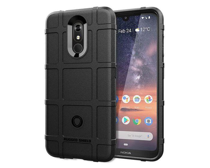 Anti Shock Rugged Armor Square Grid Tough Case Black (Nokia 3.2)