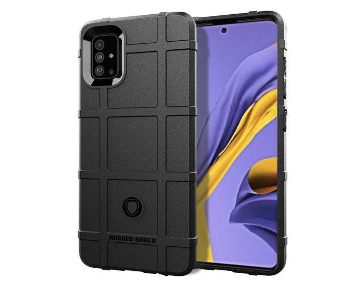 Anti Shock Rugged Armor Square Grid Tough Case Black (Samsung Galaxy Note 10 Lite)