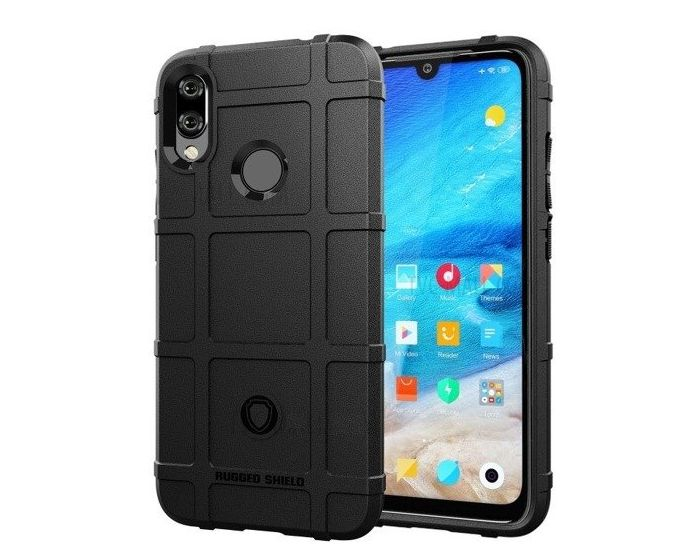 Anti Shock Rugged Armor Square Grid Tough Case Black (Xiaomi Mi A2 Lite / Redmi 6 Pro)