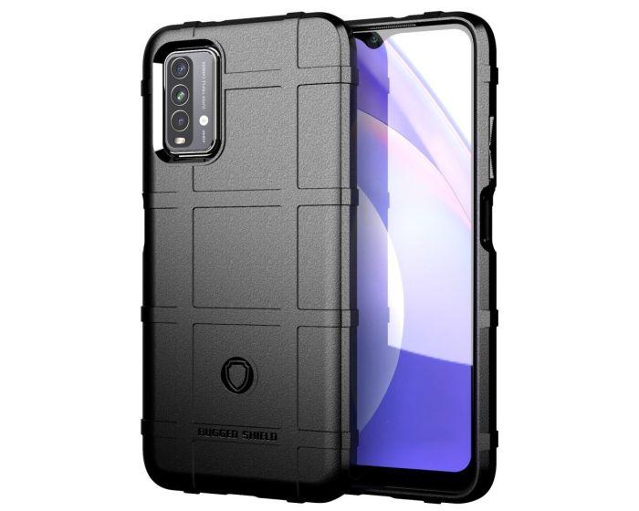 Anti Shock Rugged Armor Square Grid Tough Case Black (Xiaomi Redmi 9T)