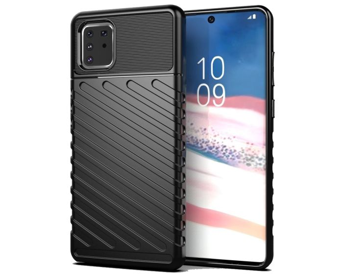Anti Shock Rugged Armor Thunder Tough Case Black (Samsung Galaxy Note 10 Lite)