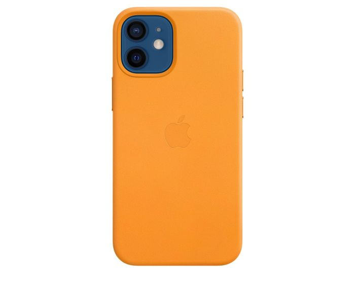 Apple Official Leather Case (MHK63ZM/A) with MagSafe California Poppy (iPhone 12 Mini)