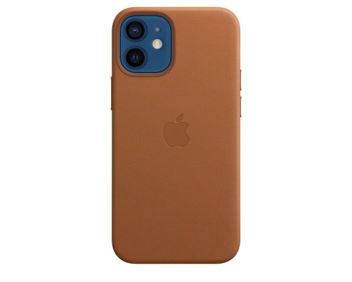 Apple Official Leather Case (MHK93ZM/A) with MagSafe Saddle Brown (iPhone 12 Mini)