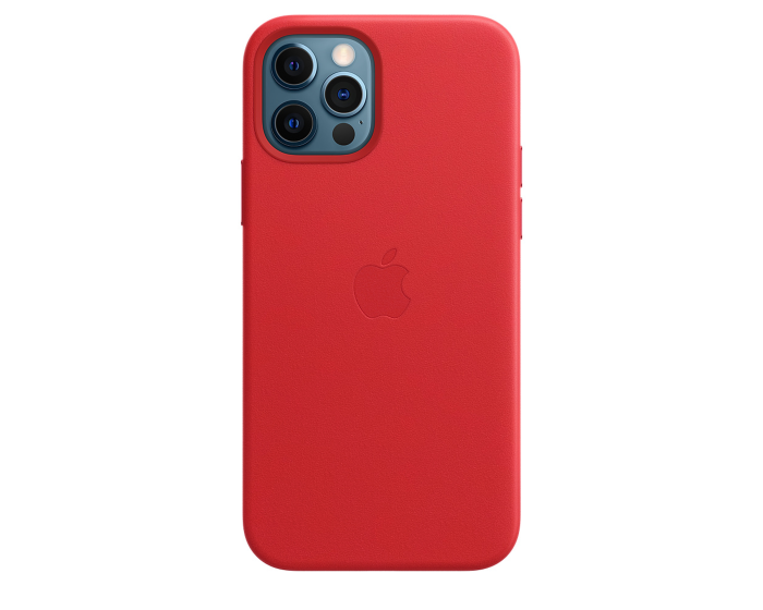 Apple Official Leather Case (MHKD3ZM/A) with MagSafe Red (iPhone 12 / 12 Pro)