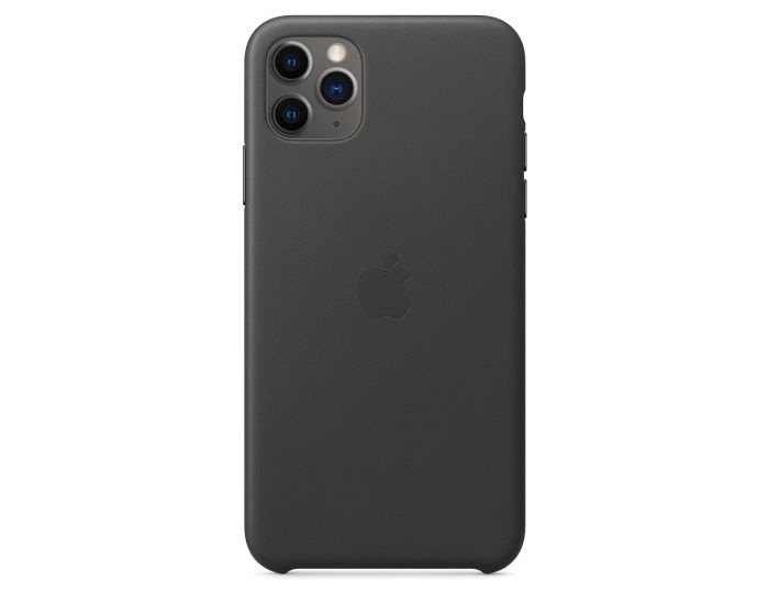 Apple Official Leather Cover (MWYE2ZM/A) Δερμάτινη Θήκη Black (iPhone 11 Pro)