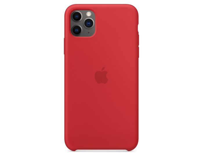 Apple Official Silicon Cover (MWYV2ZM/A) Θήκη Σιλικόνης Red (iPhone 11 Pro Max)