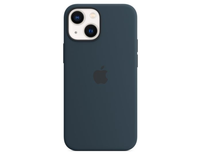 Apple Official Silicone Case (MM213ZMA) with MagSafe Abyss Blue (iPhone 13 Mini)