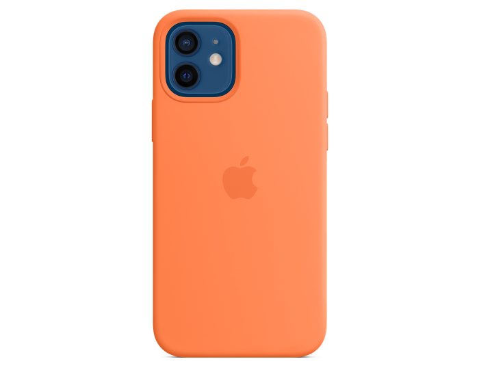 Apple Official Silicone Case (MHKY3ZM/A) with MagSafe Kumquat (iPhone 12 / 12 Pro)