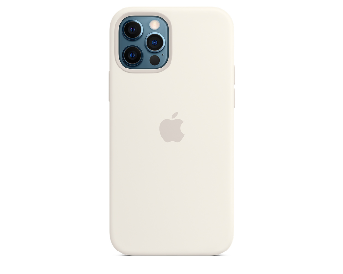 Apple Official Silicone Case (MHL53ZM/A) with MagSafe White(iPhone 12 / 12 Pro)