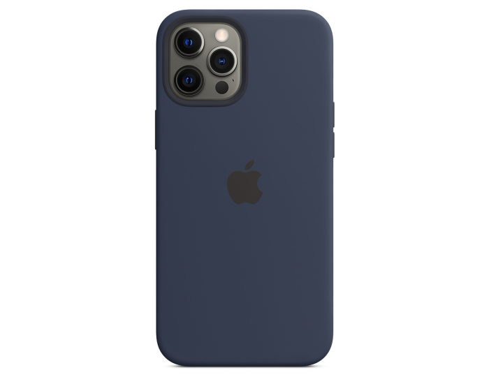 Apple Official Silicone Case (MHLD3ZM/A) with MagSafe Deep Navy (iPhone 12 Pro Max)