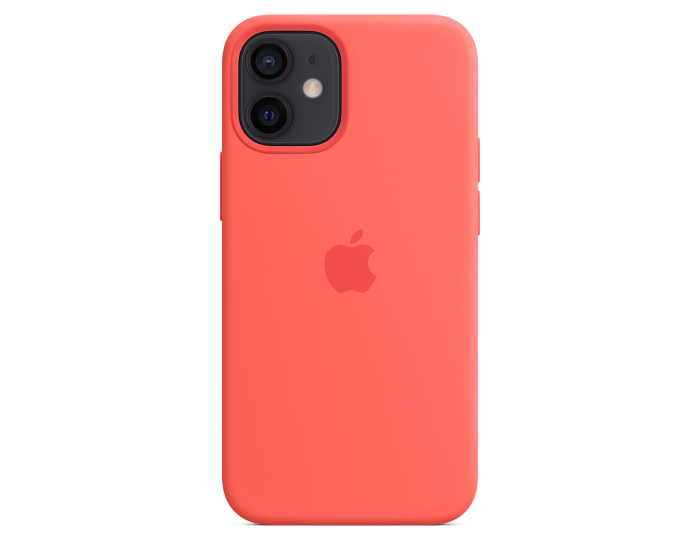 Apple Official Silicone Case (MHKP3ZM/A) with MagSafe Pink Citrus (iPhone 12 mini)