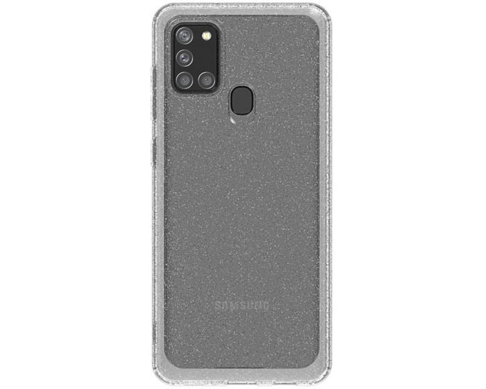 Araree A Cover Ανθεκτική Θήκη Σιλικόνης Glitter Clear (Samsung Galaxy A21s)