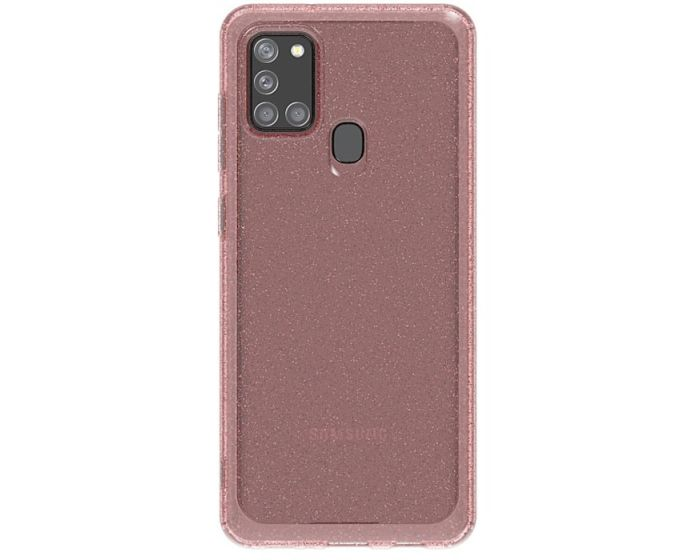 Araree A Cover Ανθεκτική Θήκη Σιλικόνης Glitter Pink (Samsung Galaxy A21s)