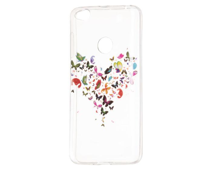 Art Case Gel TPU Printed Butterflies Θήκη Σιλικόνης - Transparent (Xiaomi Redmi 4X)