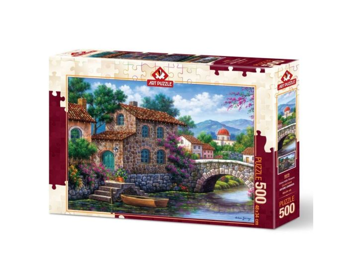 Art Puzzle 500 Τμχ Puzzle Canal With Flowers - Arturo Zarraga
