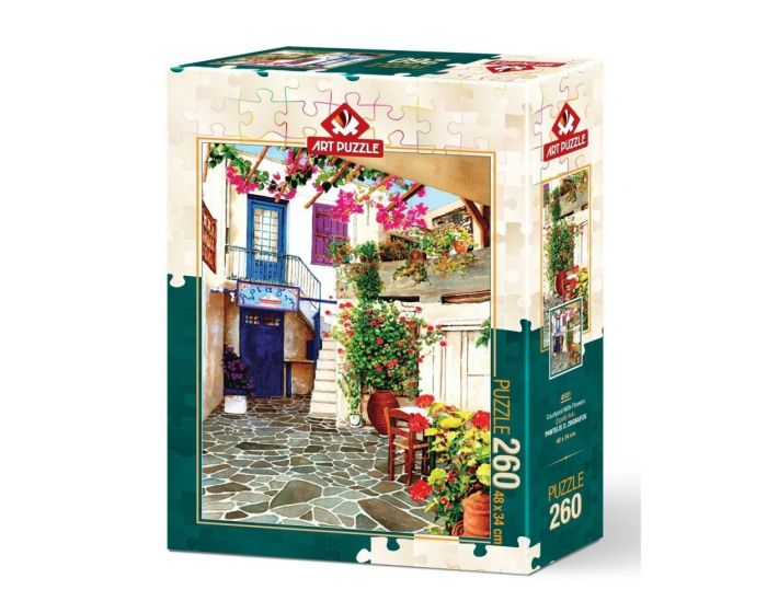 Art Puzzle 260 Τμχ Puzzle Courtyard With Flowers - Pantelis D. Zografos