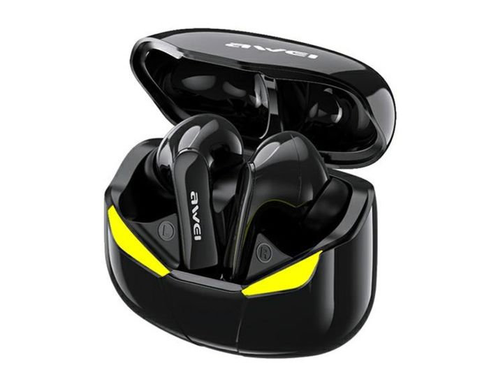 AWEI TWS T35 Bluetooth Earphone Wireless Earbuds with Charging Box - Black