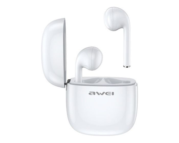 AWEI TWS T28 Wireless Bluetooth Stereo Earbuds with Charging Box - White