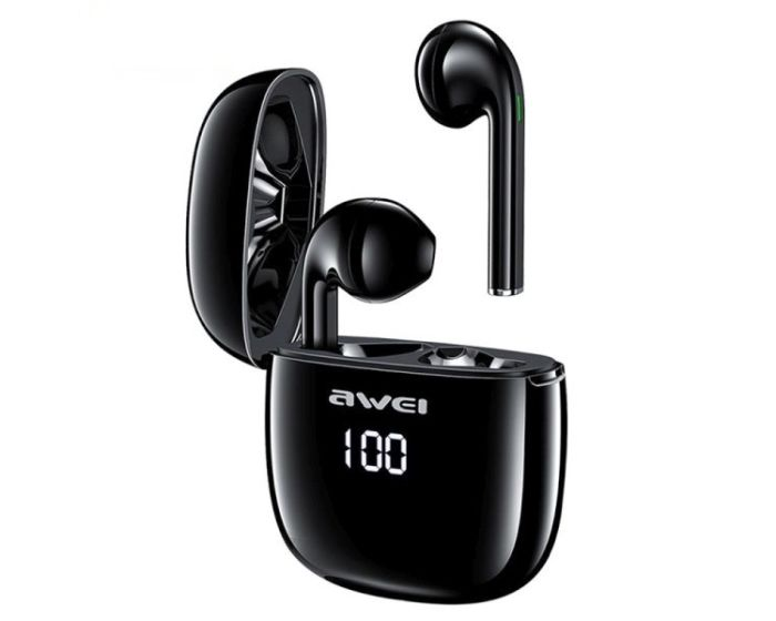 AWEI TWS T28P Wireless Bluetooth Stereo Earbuds with Charging Box - Black