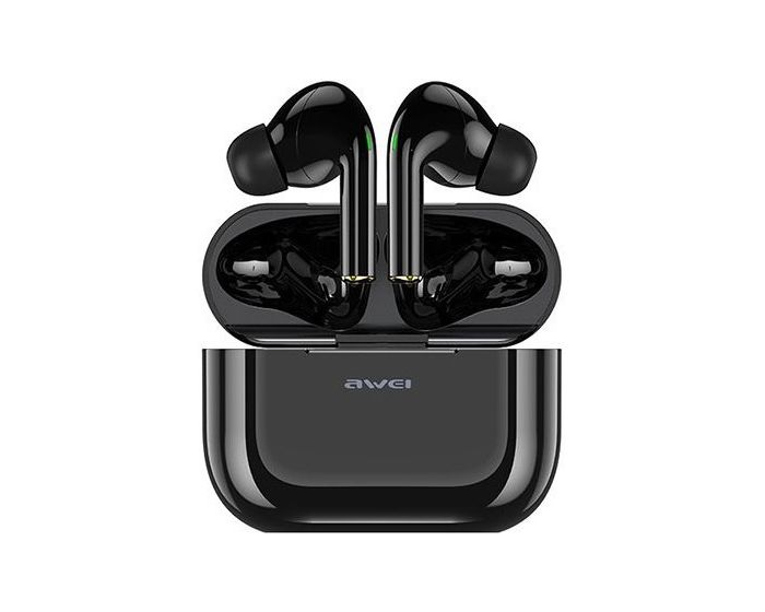 AWEI TWS T29 Wireless Bluetooth Stereo Earbuds with Charging Box - Black