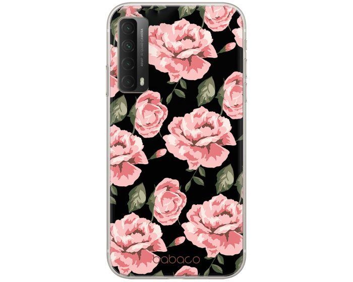 Babaco Flower Silicone Case Θήκη Σιλικόνης Black (Huawei P Smart 2021)