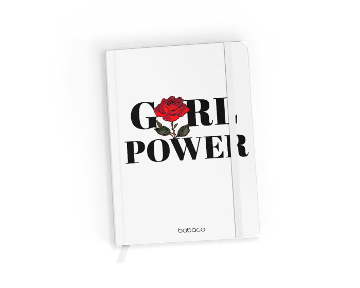 Babaco Notebook Size A5 Βιβλίο Σημειώσεων - 90's Girl 004 White