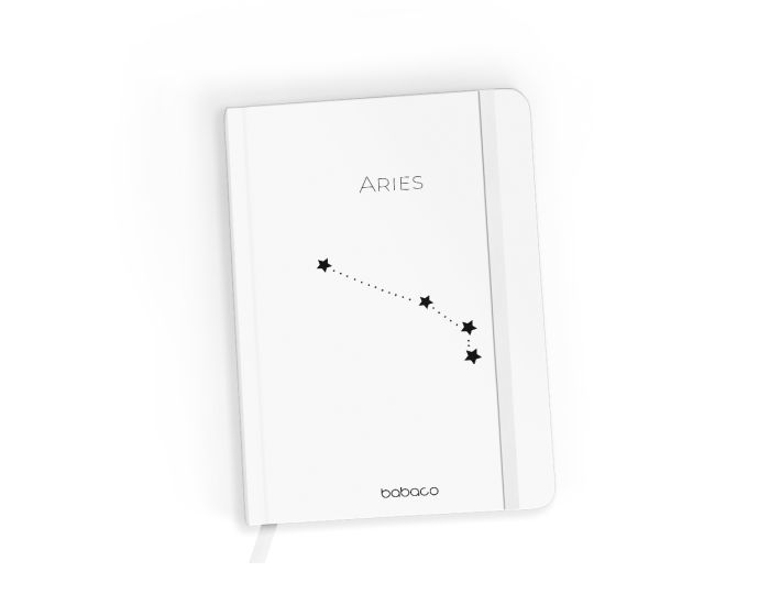Babaco Notebook Size A5 Βιβλίο Σημειώσεων - Zodiac Constellation 001 White
