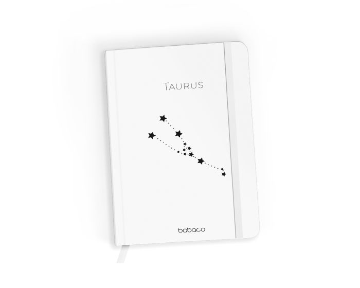 Babaco Notebook Size A5 Βιβλίο Σημειώσεων - Zodiac Constellation 002 White