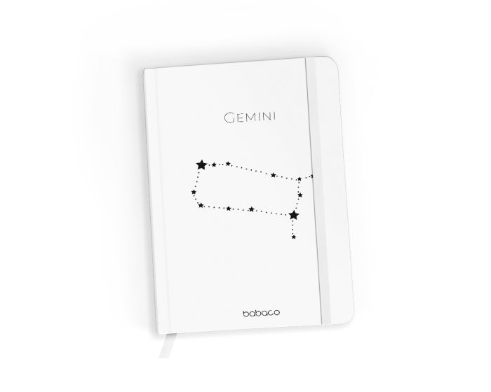 Babaco Notebook Size A5 Βιβλίο Σημειώσεων - Zodiac Constellation 003 White