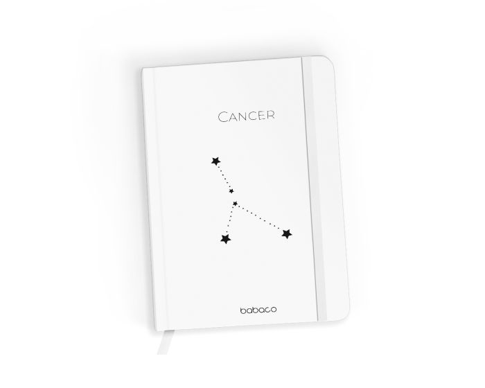 Babaco Notebook Size A5 Βιβλίο Σημειώσεων - Zodiac Constellation 004 White