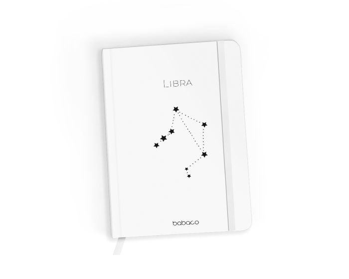 Babaco Notebook Size A5 Βιβλίο Σημειώσεων - Zodiac Constellation 007 White