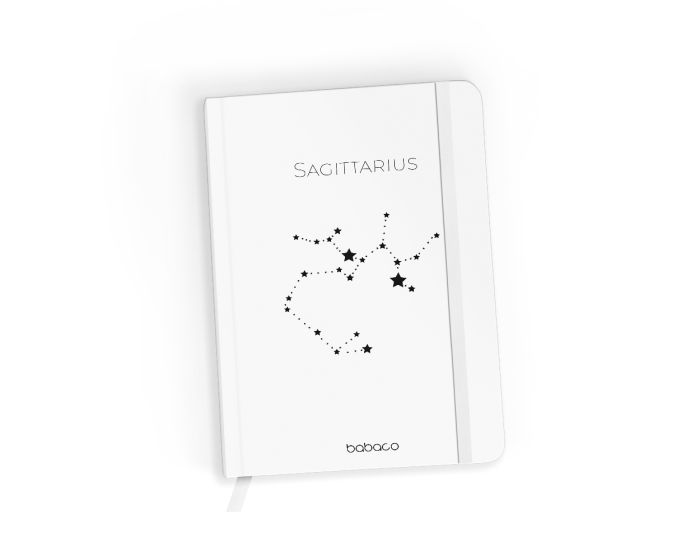 Babaco Notebook Size A5 Βιβλίο Σημειώσεων - Zodiac Constellation 009 White