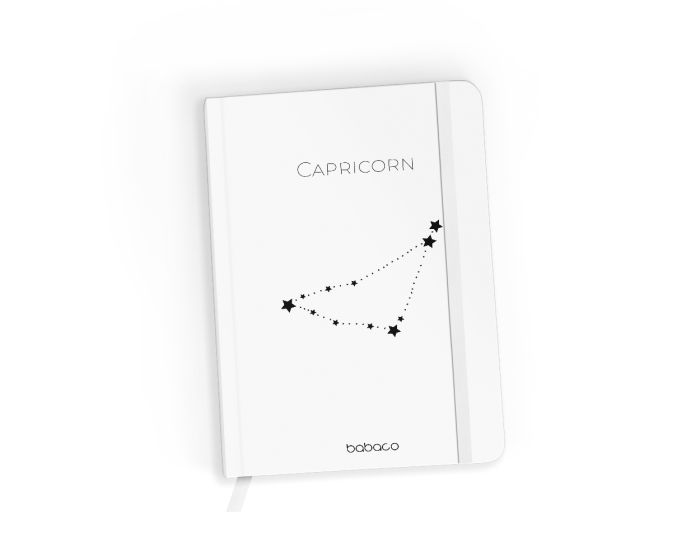 Babaco Notebook Size A5 Βιβλίο Σημειώσεων - Zodiac Constellation 010 White