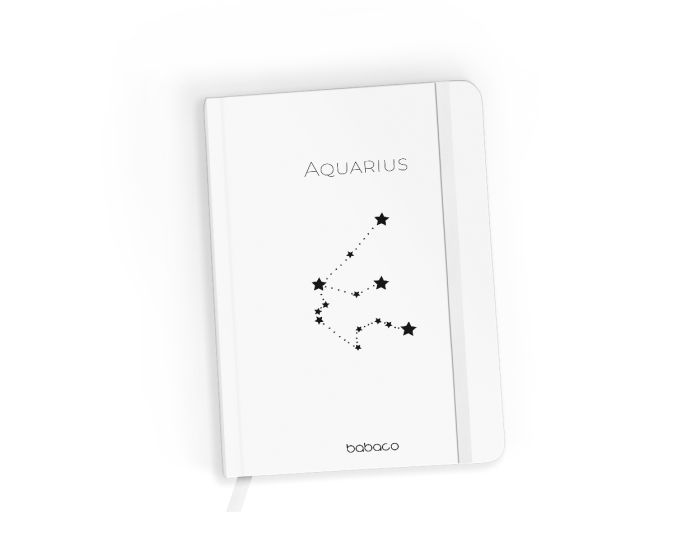 Babaco Notebook Size A5 Βιβλίο Σημειώσεων - Zodiac Constellation 011 White
