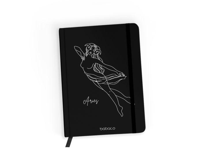 Babaco Notebook Size A5 Βιβλίο Σημειώσεων - Zodiac Woman 001 Black