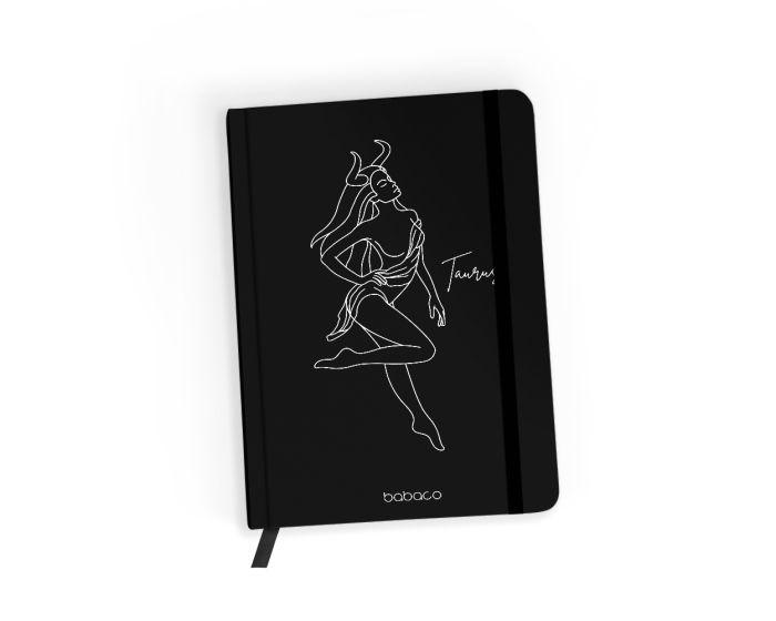 Babaco Notebook Size A5 Βιβλίο Σημειώσεων - Zodiac Woman 002 Black