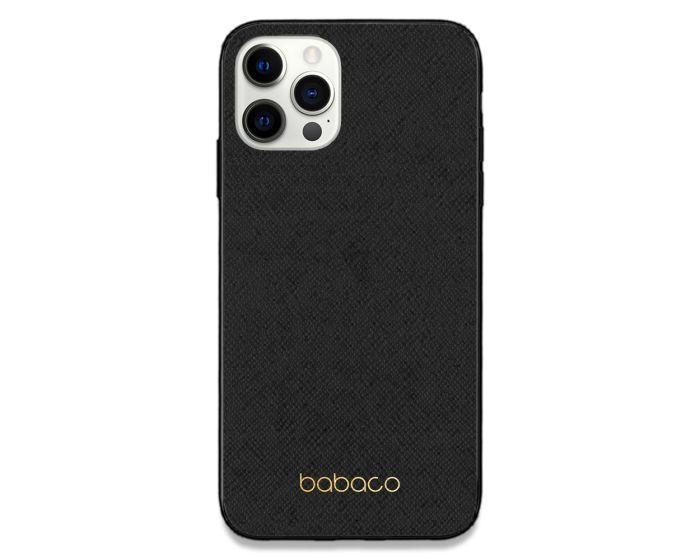 Babaco Premium PU Leather Σκληρή Θήκη Black / Gold (iPhone 12 Pro Max)