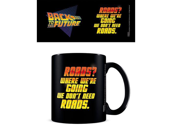 Back to the Future (We Don't Need Roads) Mug 315ml Κεραμική Κούπα - Black