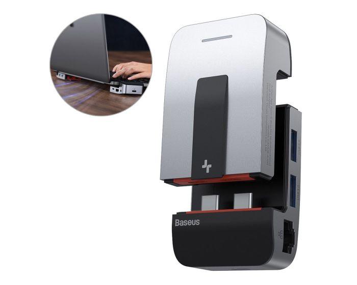 Baseus Armor Age Multifunctional Hub Adapter (CAHUB-AJ0G) Βάση Hub για Macbook Pro Grey