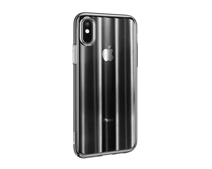 Baseus Aurora Case Ombre Gradual Change Cover (WIAPIPH61-JG01) Σκληρή Ημιδιάφανη Θήκη Black (iPhone XR)