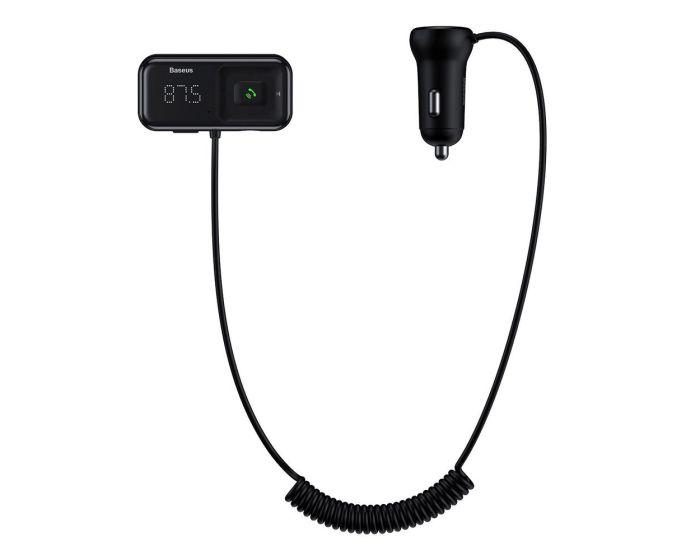 Baseus S-16 FM Transmitter (CCTM-E01) Car Charger 2x USB 3.1A Φορτιστής Αυτοκινήτου Black