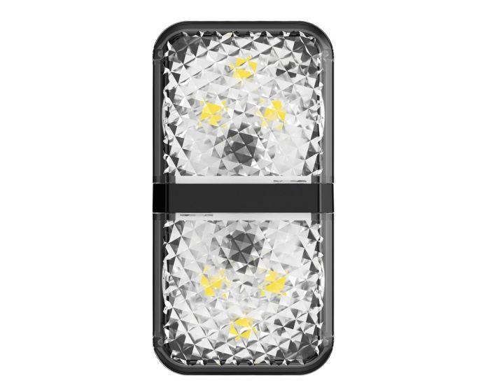Baseus Car Door Led Warning Light (CRFZD-01) LED Πόρτας Αυτοκινήτου 2 Τμχ - Black