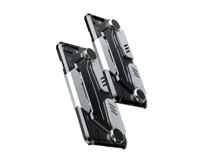 Baseus Gamer Gamepad Case (WIAPGM-A0S) Θήκη Silver - Black (iPhone 7 / 8 / SE 2020)