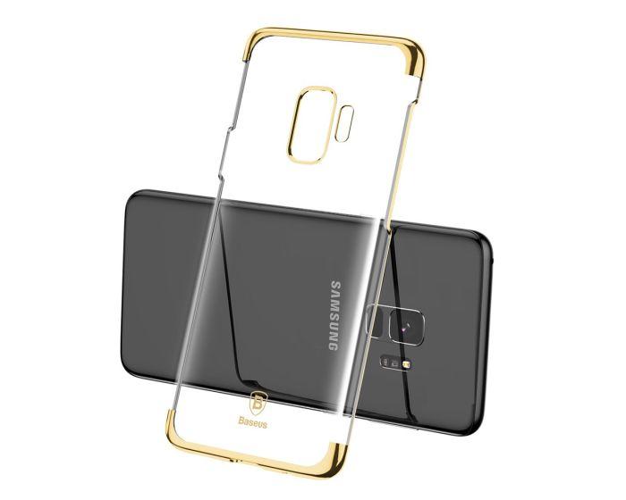 Baseus Glitter Hard Slim Case Transparent / Gold (Samsung Galaxy S9)